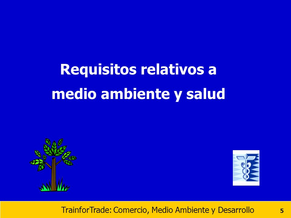 Requisitos relativos a