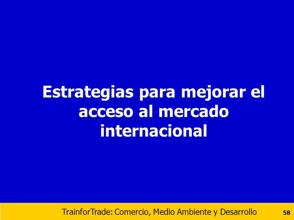 Estrategias para mejorar el acceso al mercado internacional