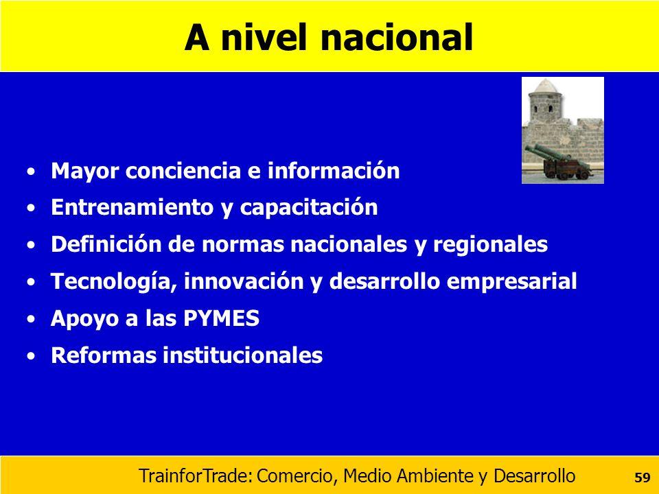 A nivel nacional Mayor conciencia e información