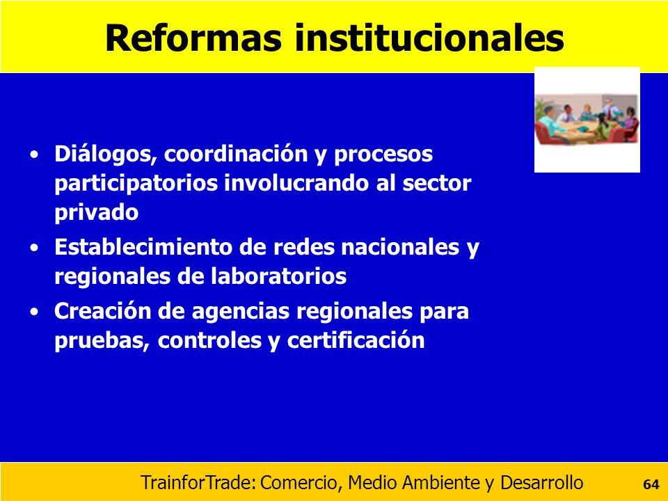 Reformas institucionales