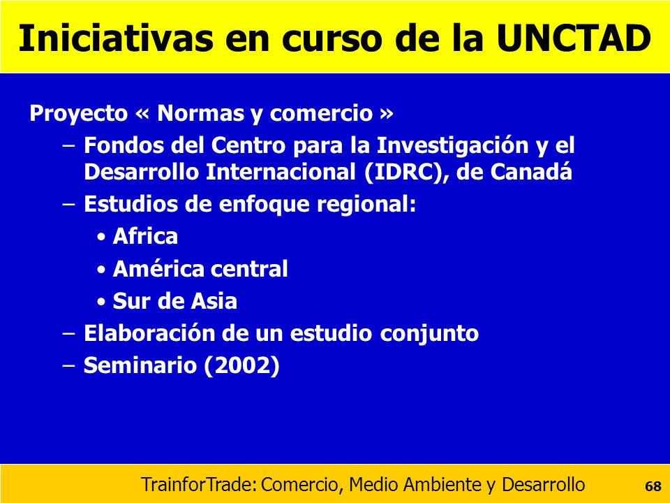Iniciativas en curso de la UNCTAD