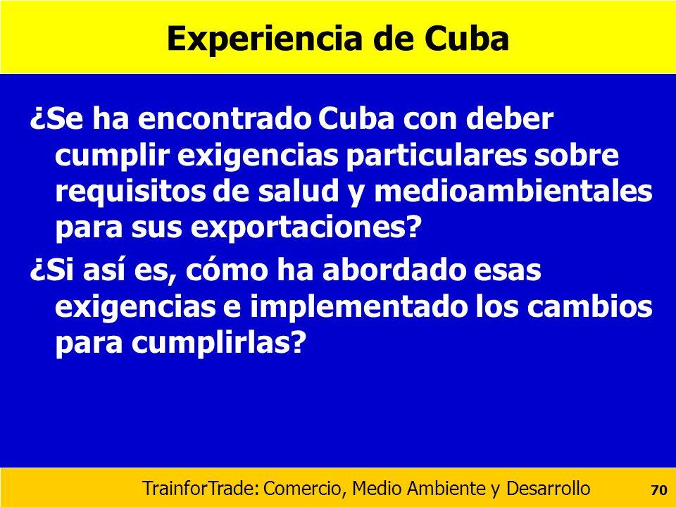 Experiencia de Cuba