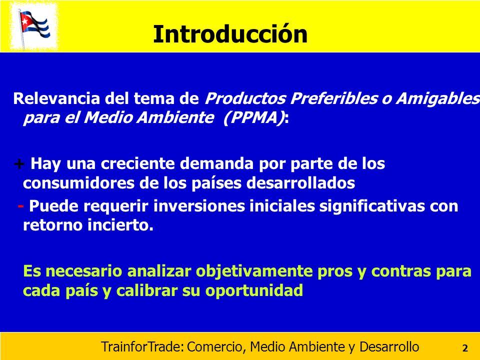 Introducción Relevancia del tema de Productos Preferibles o Amigables para el Medio Ambiente (PPMA):