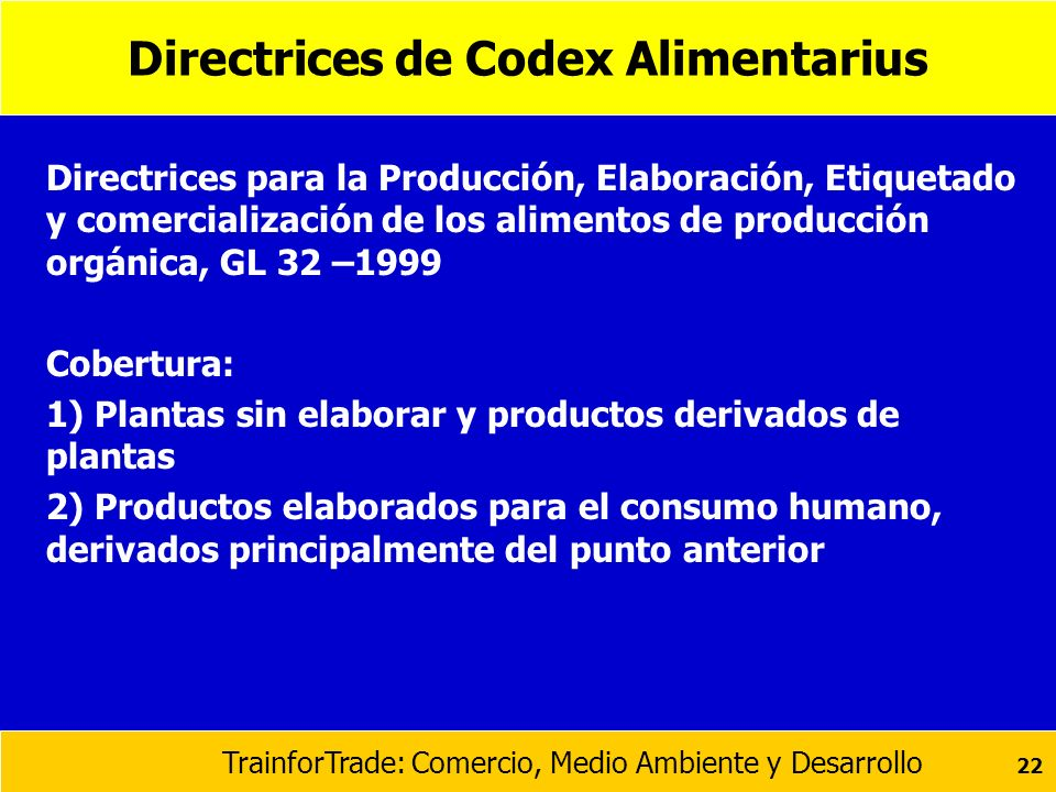 Directrices de Codex Alimentarius