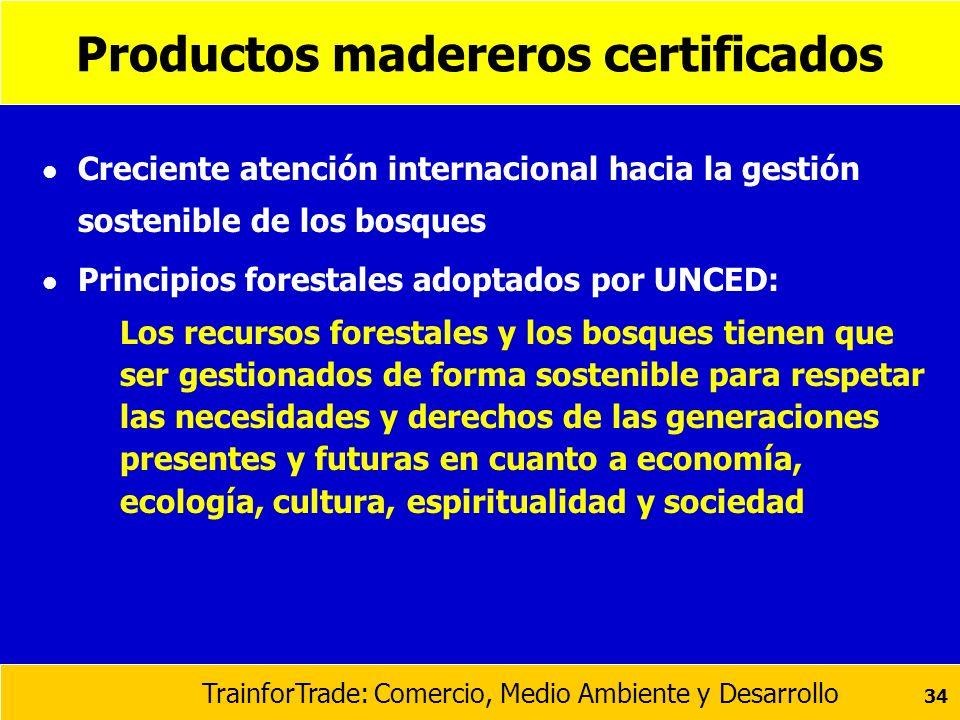 Productos madereros certificados