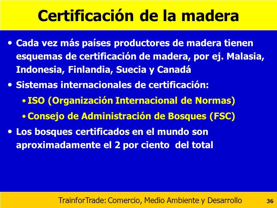 Certificación de la madera