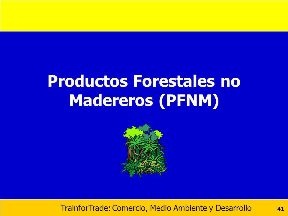 Productos Forestales no Madereros (PFNM)
