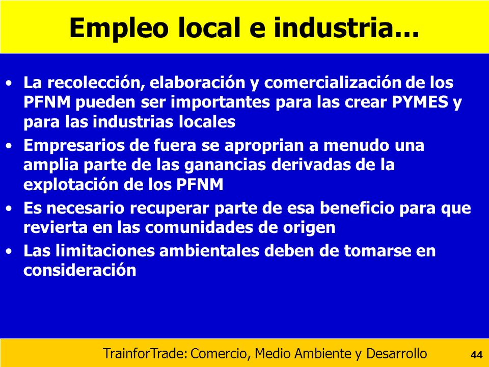 Empleo local e industria...