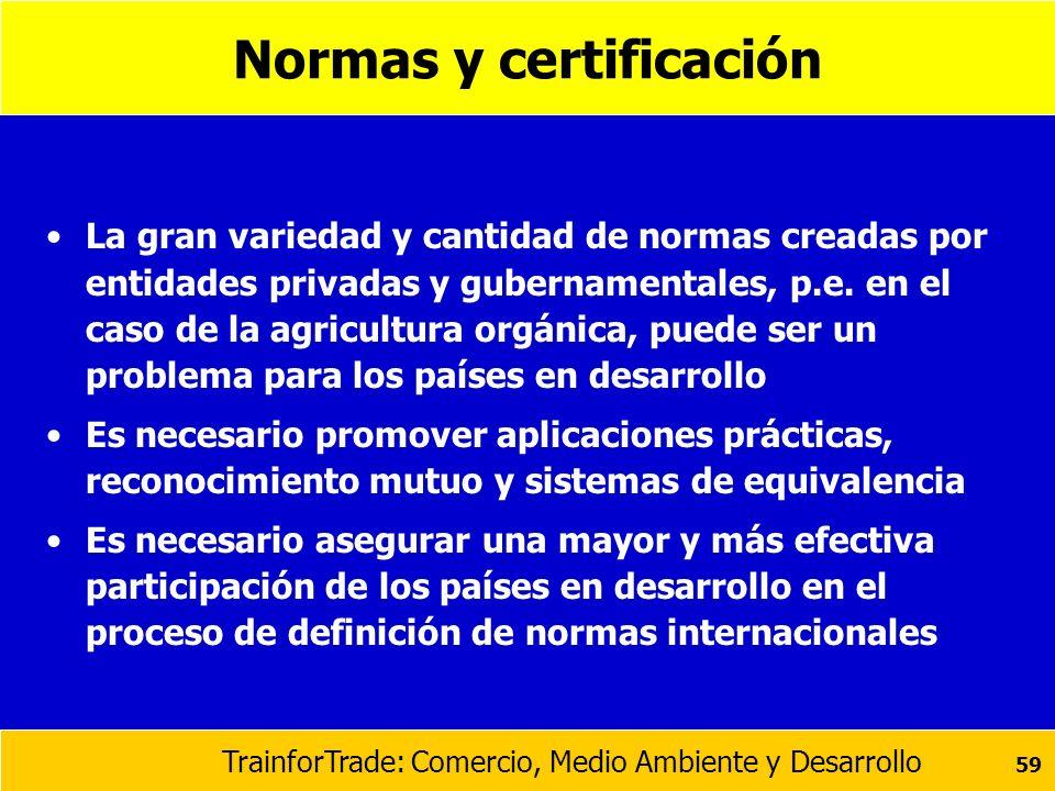 Normas y certificación
