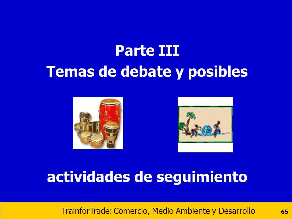 Temas de debate y posibles actividades de seguimiento