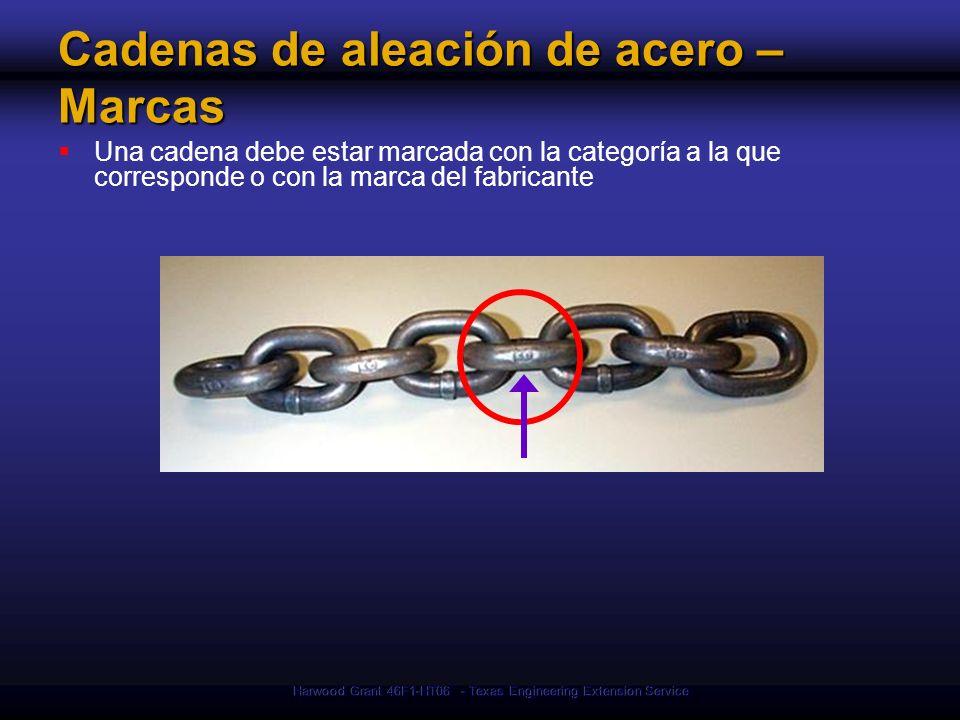 Cadenas de aleación de acero – Marcas