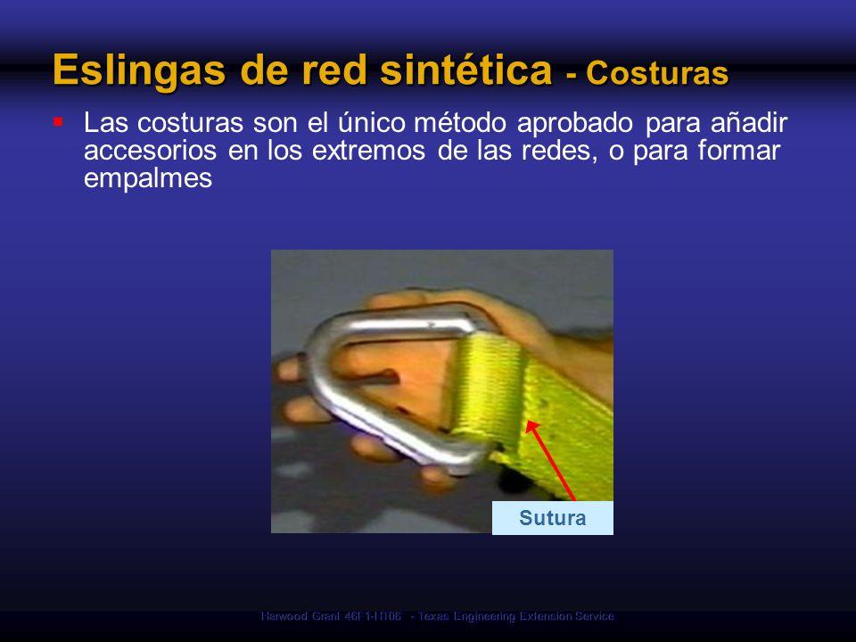 Eslingas de red sintética - Costuras