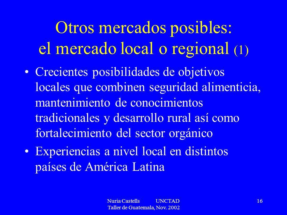 Otros mercados posibles: el mercado local o regional (1)