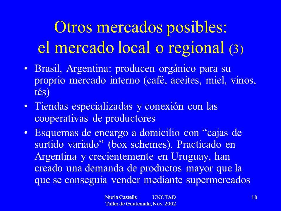 Otros mercados posibles: el mercado local o regional (3)