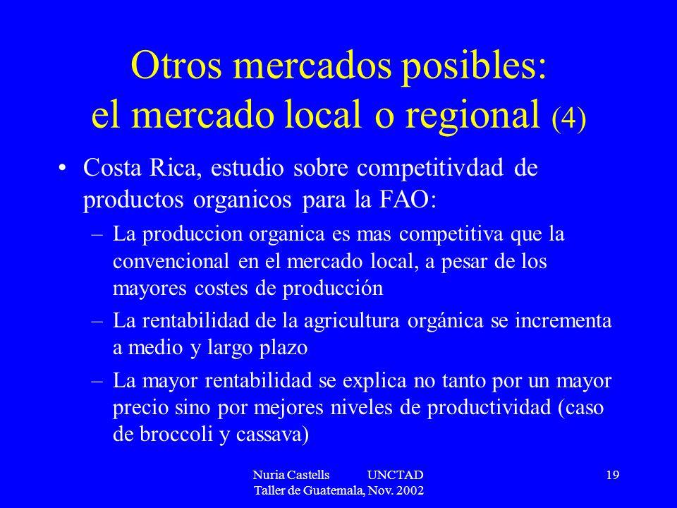 Otros mercados posibles: el mercado local o regional (4)
