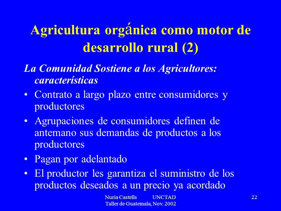 Agricultura orgánica como motor de desarrollo rural (2)