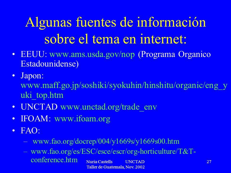 Algunas fuentes de información sobre el tema en internet:
