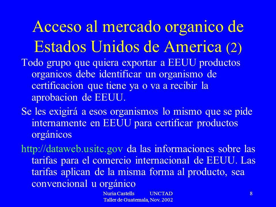 Acceso al mercado organico de Estados Unidos de America (2)