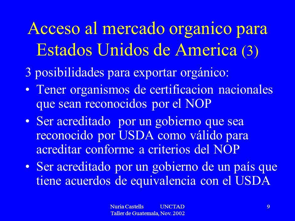 Acceso al mercado organico para Estados Unidos de America (3)