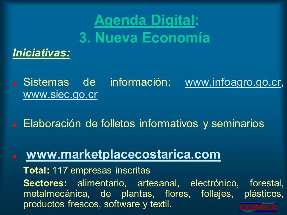 Agenda Digital: 3. Nueva Economía