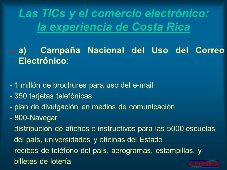Las TICs y el comercio electrónico: la experiencia de Costa Rica