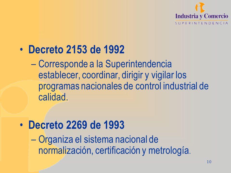 Decreto 2153 de 1992