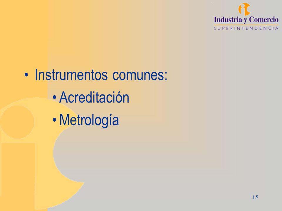 Instrumentos comunes: