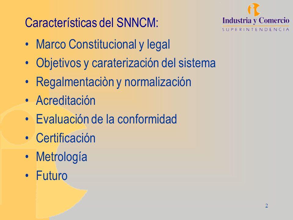 Características del SNNCM: