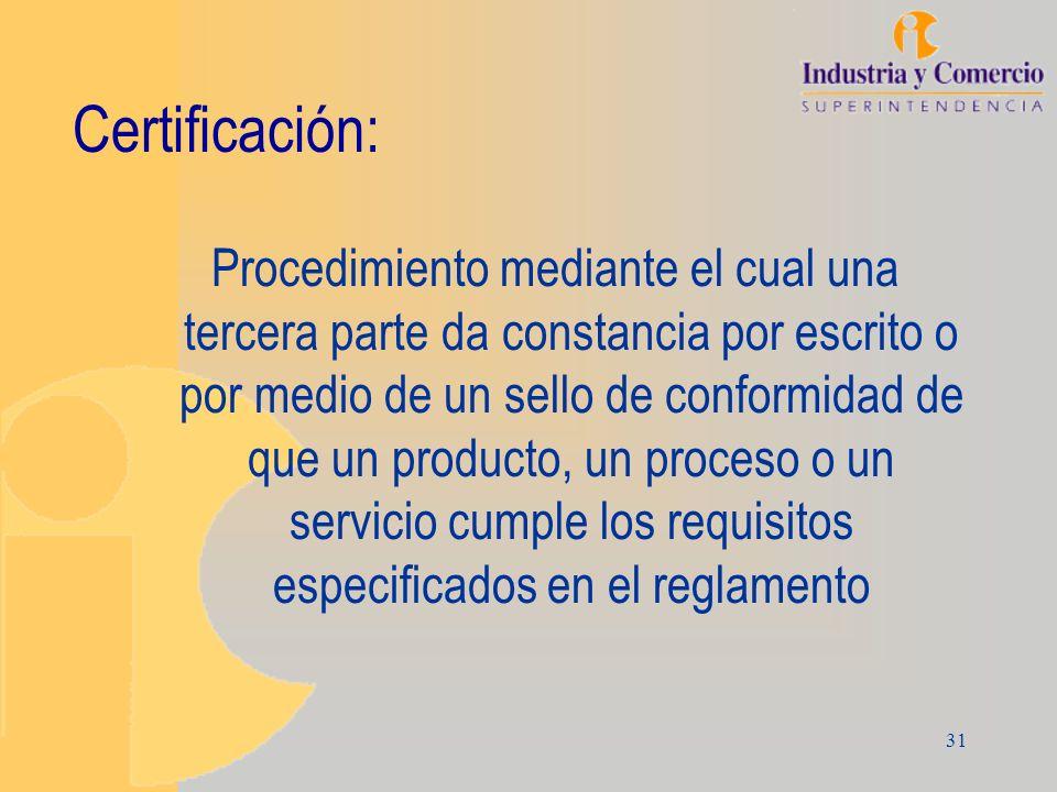 Certificación: