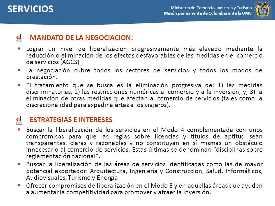 SERVICIOS MANDATO DE LA NEGOCIACION: ESTRATEGIAS E INTERESES