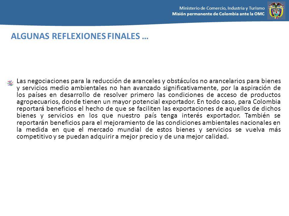 ALGUNAS REFLEXIONES FINALES …