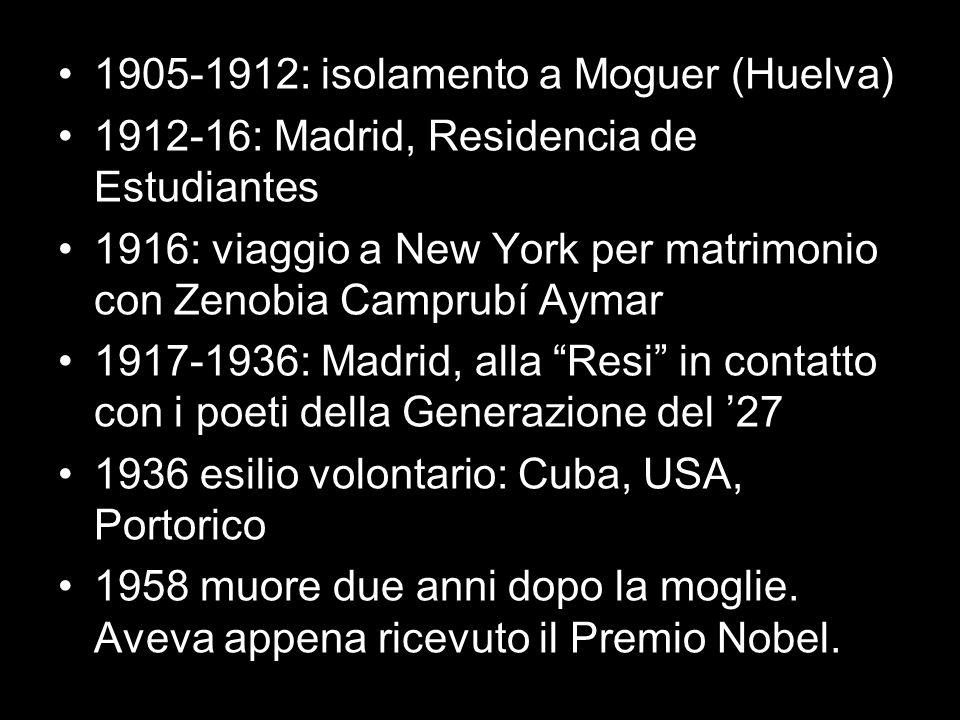 1905-1912: isolamento a Moguer (Huelva)