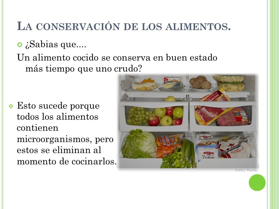 La cocci n y la descomposici n de los alimentos ppt for Procesos de preelaboracion y conservacion en cocina pdf