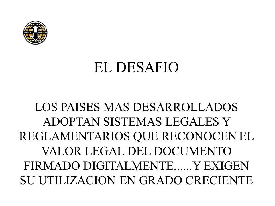 EL DESAFIO LOS PAISES MAS DESARROLLADOS ADOPTAN SISTEMAS LEGALES Y