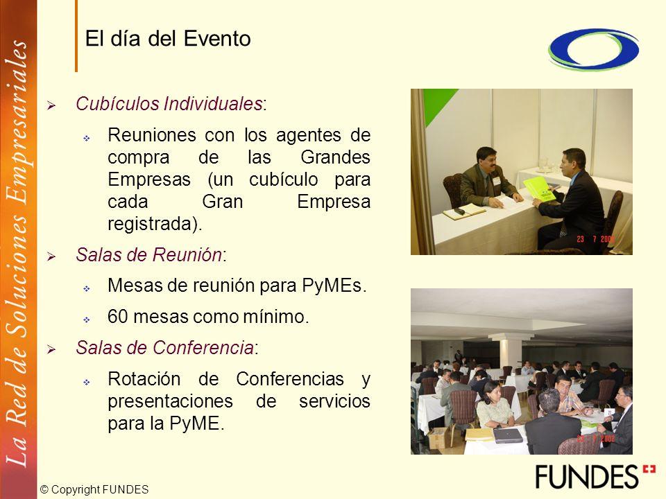 El día del Evento Cubículos Individuales: