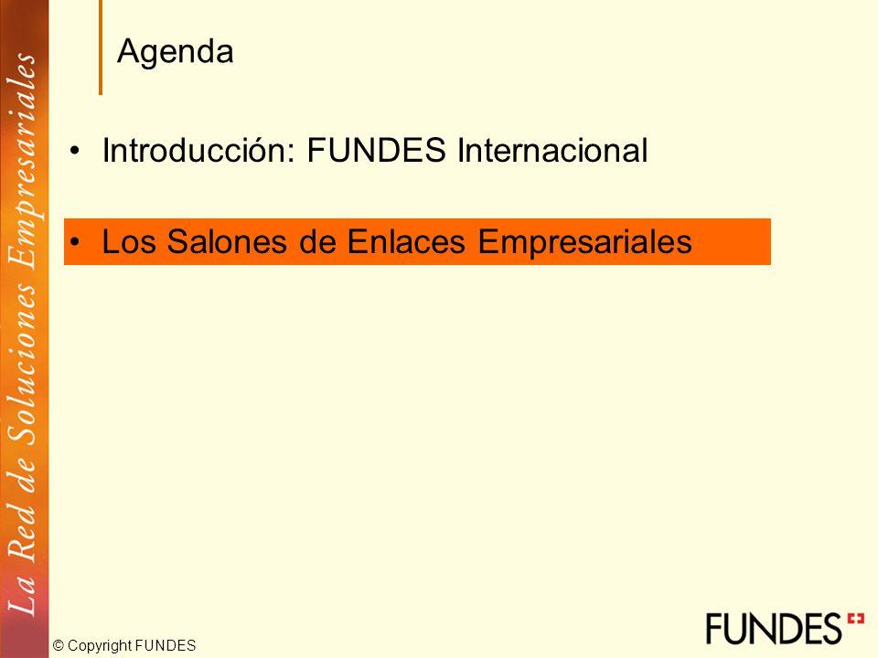 Agenda Introducción: FUNDES Internacional Los Salones de Enlaces Empresariales
