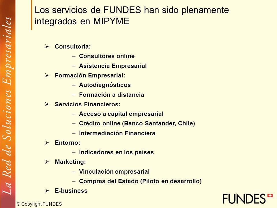 Los servicios de FUNDES han sido plenamente integrados en MIPYME