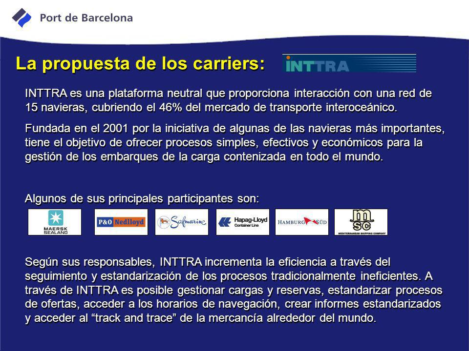 La propuesta de los carriers: