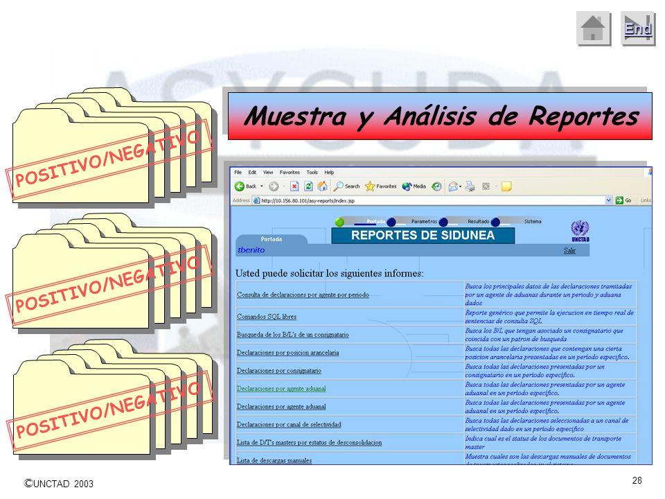 Muestra y Análisis de Reportes
