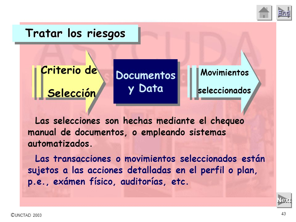 Tratar los riesgos Criterio de Selección Documentos y Data