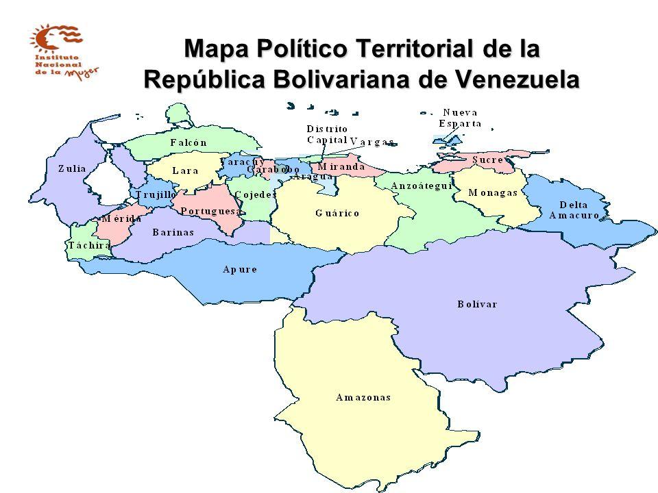 Mapa Político Territorial de la República Bolivariana de Venezuela