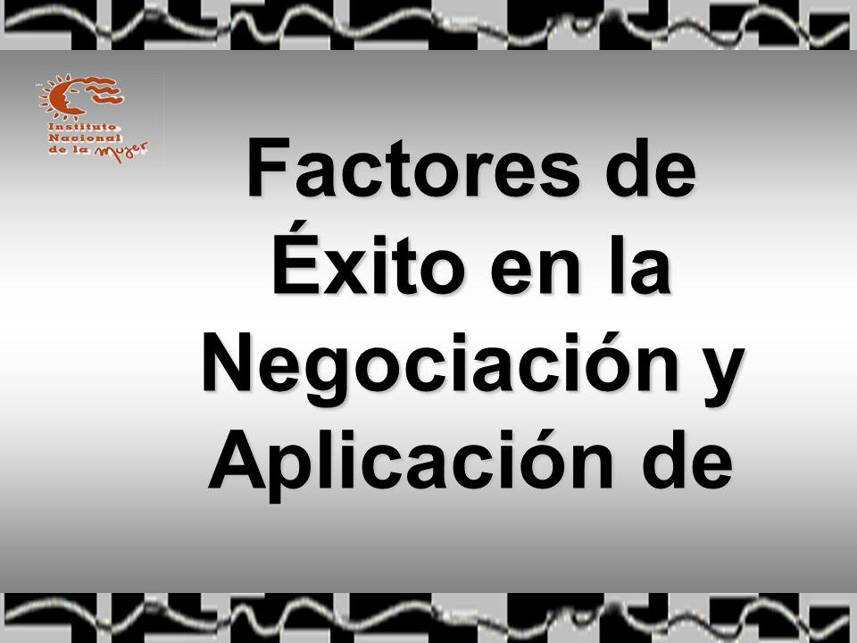Factores de Éxito en la Negociación y Aplicación de las Reformas
