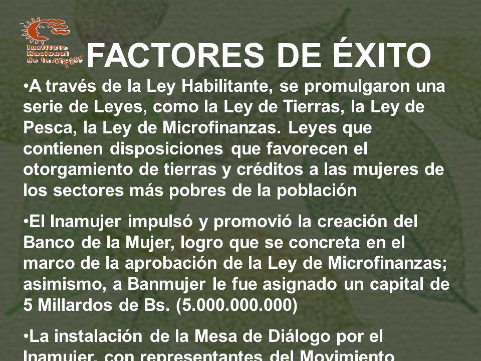 FACTORES DE ÉXITO