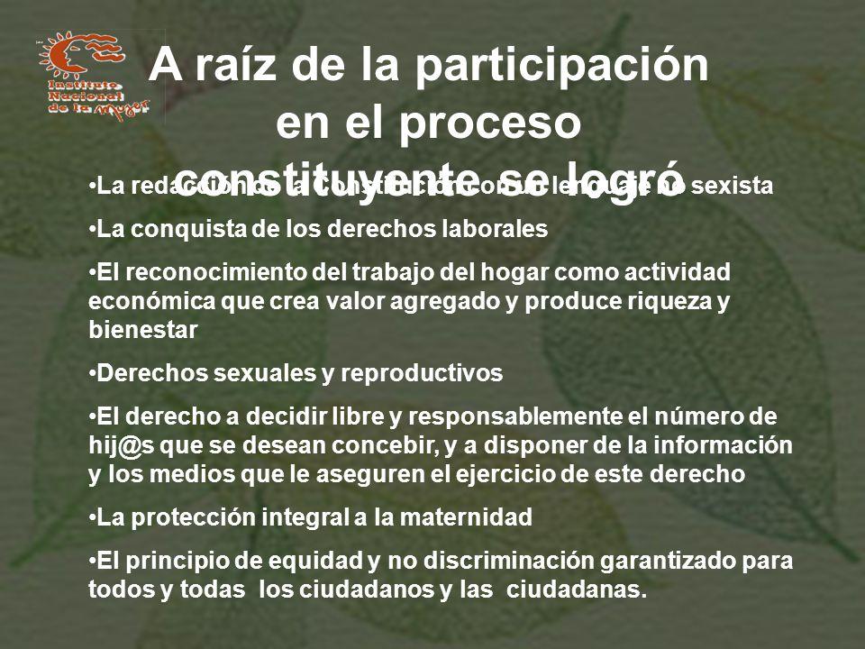 A raíz de la participación en el proceso constituyente se logró