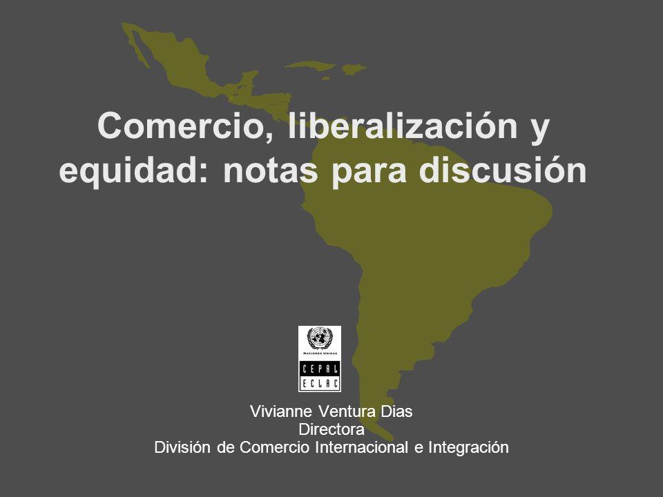 Comercio, liberalización y equidad: notas para discusión
