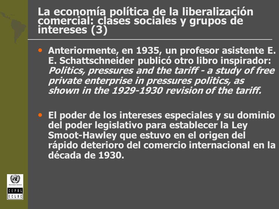 La economía política de la liberalización comercial: clases sociales y grupos de intereses (3)