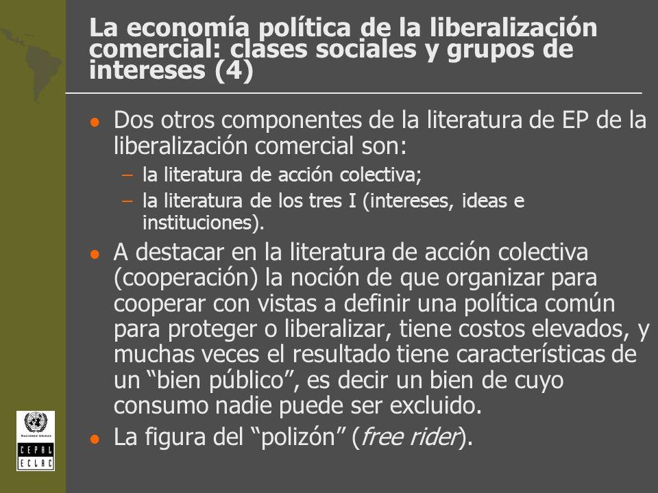 La economía política de la liberalización comercial: clases sociales y grupos de intereses (4)