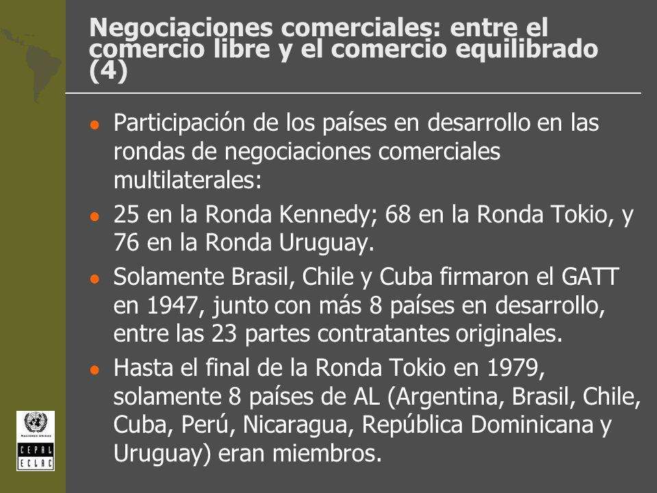 Negociaciones comerciales: entre el comercio libre y el comercio equilibrado (4)