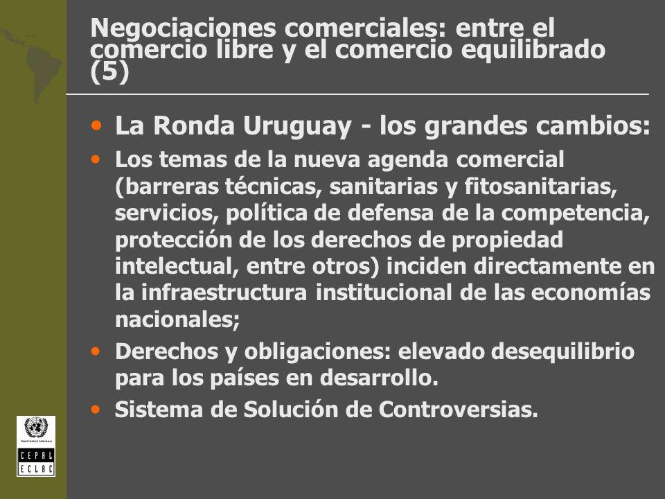 La Ronda Uruguay - los grandes cambios: