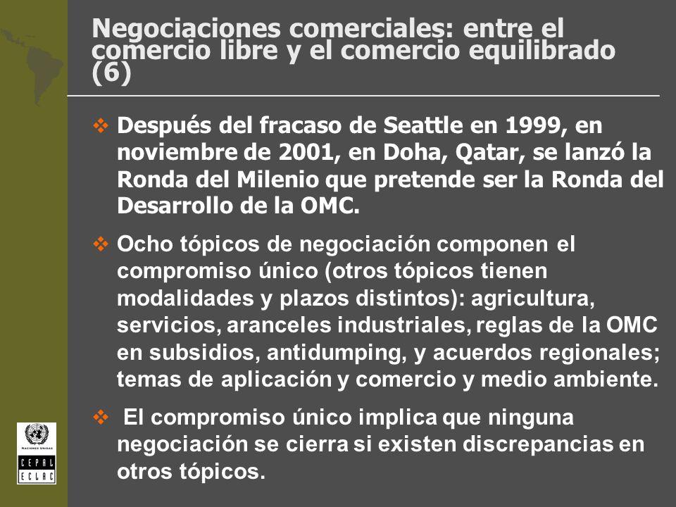 Negociaciones comerciales: entre el comercio libre y el comercio equilibrado (6)
